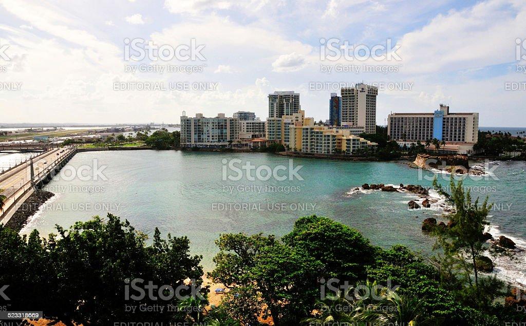 San Juan Hotels stock photo