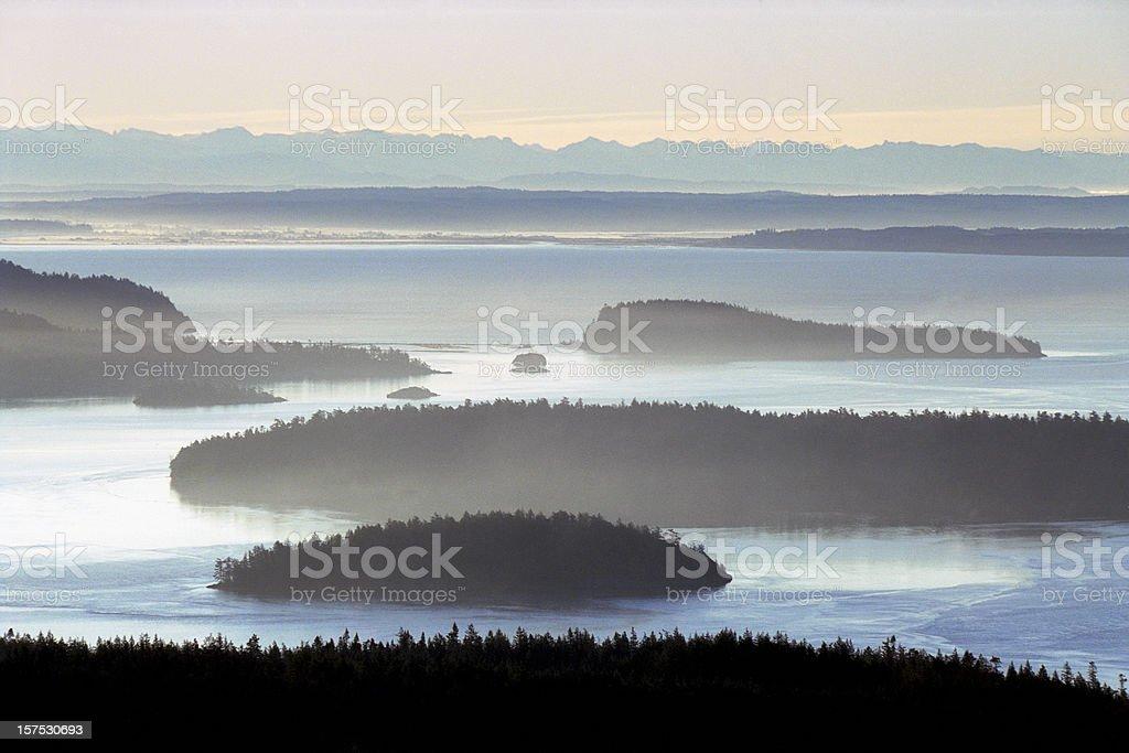 San Juan Island Overlook stock photo