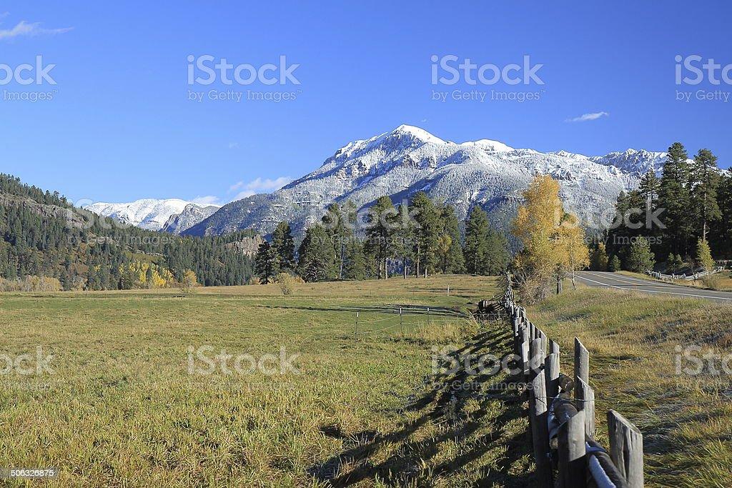 San Juan Mountains and Highway 160 stock photo