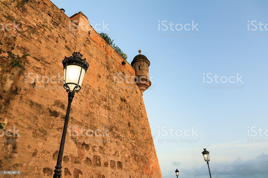 San Juan outer wall lantern stock photo