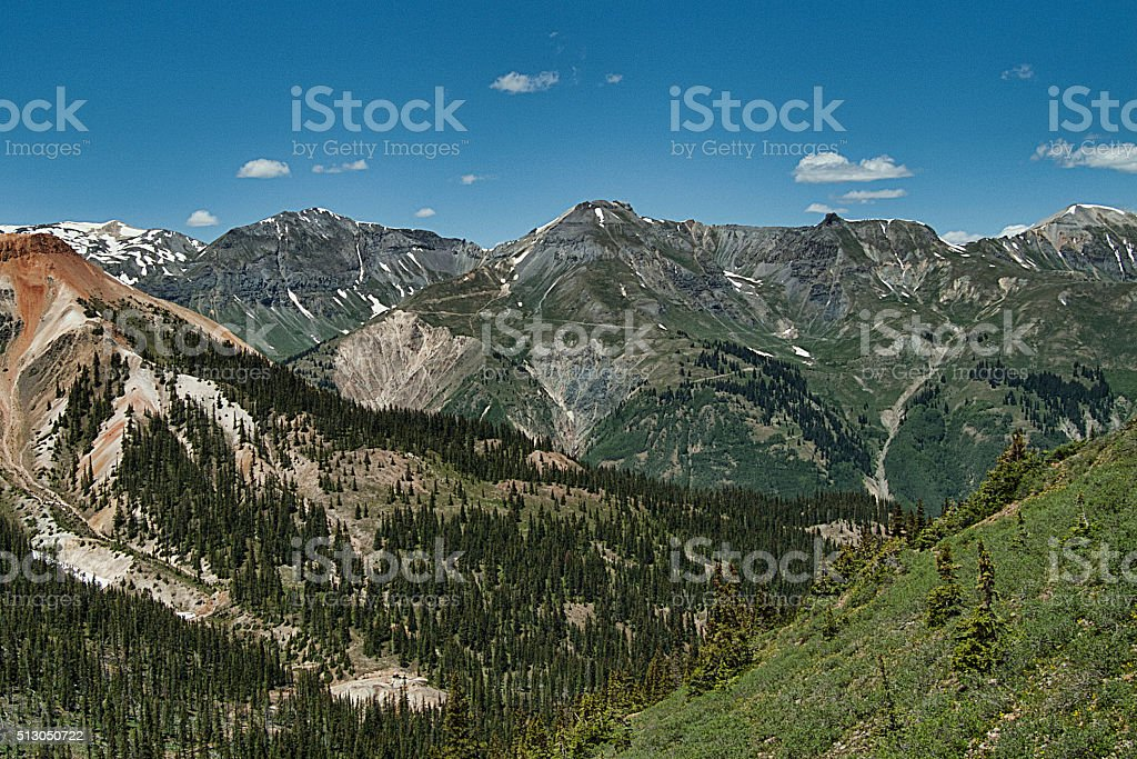 San Juan Peaks stock photo