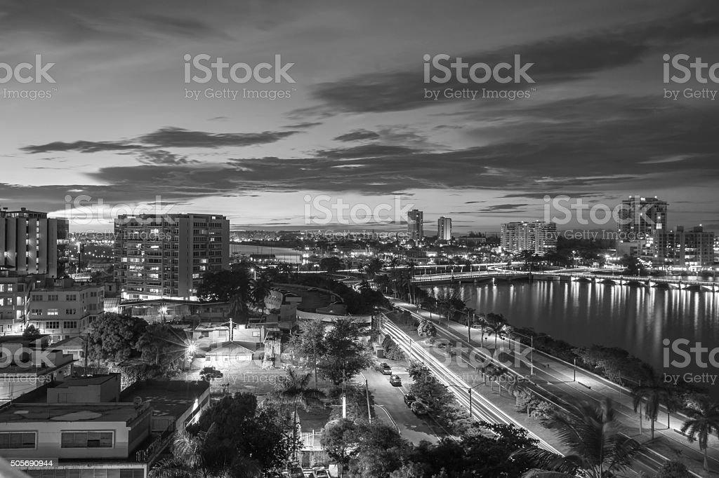 San Juan Puerto Rico Black and White stock photo