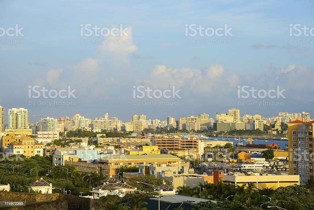 San Juan, Puerto Rico skyline stock photo