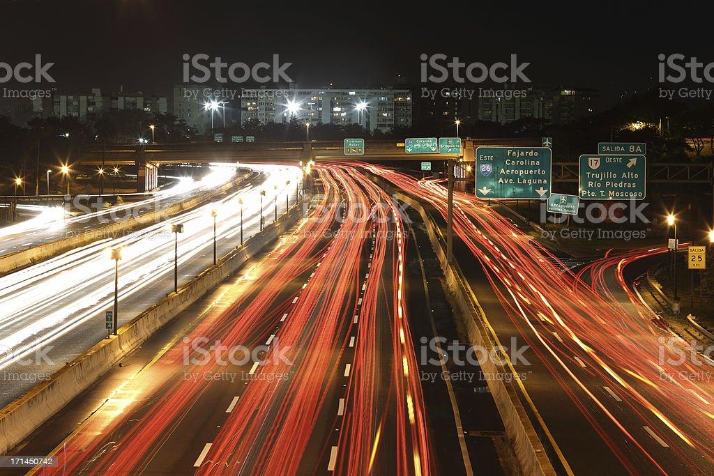 San Juan Traffic royalty-free stock photo