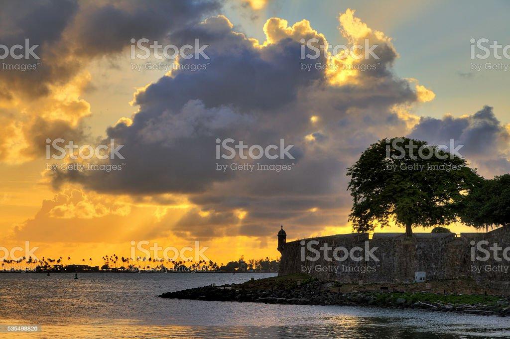 San Juan wall sunset stock photo