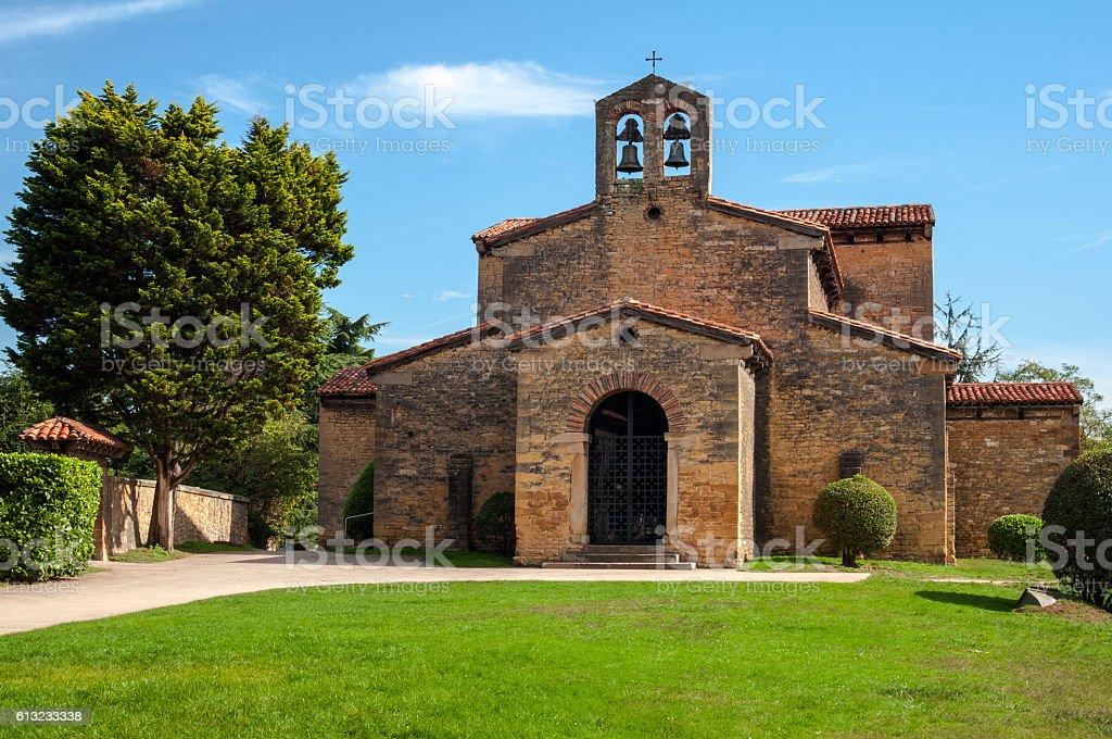 San Julian de los Prados Church, Oviedo stock photo