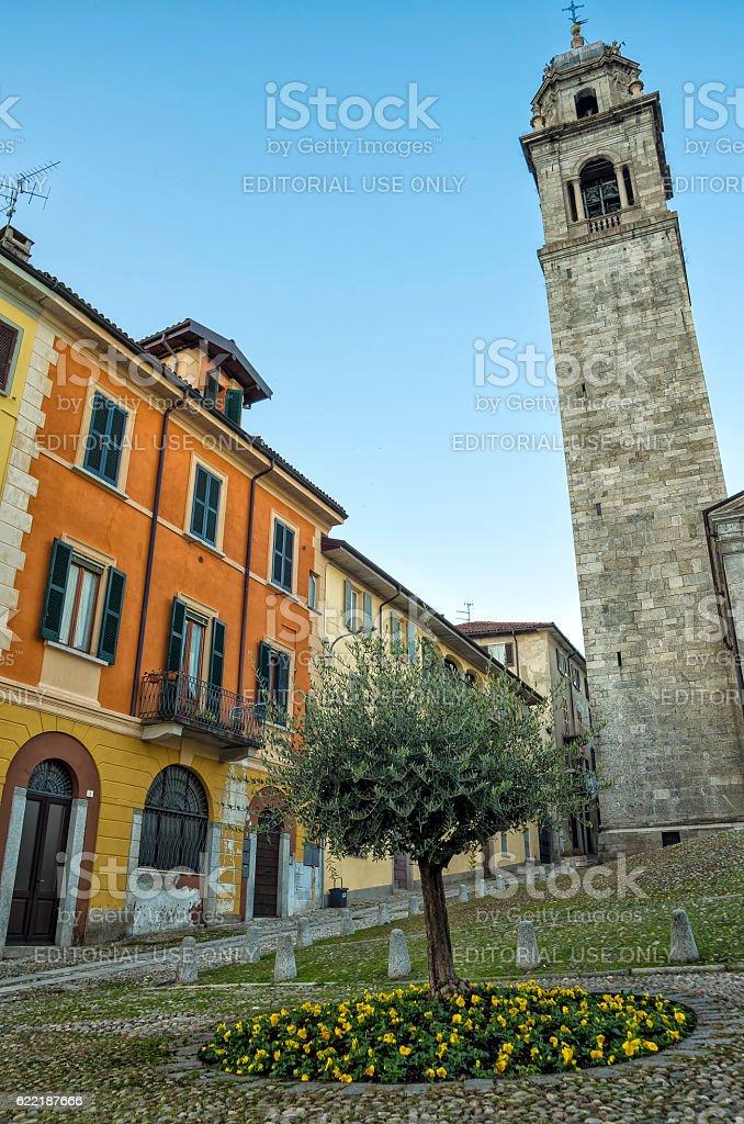 San Leonardo square in Verbania royalty-free stock photo