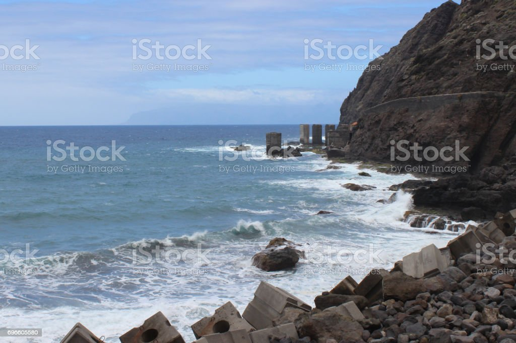 playa de san lorenzo stock photo