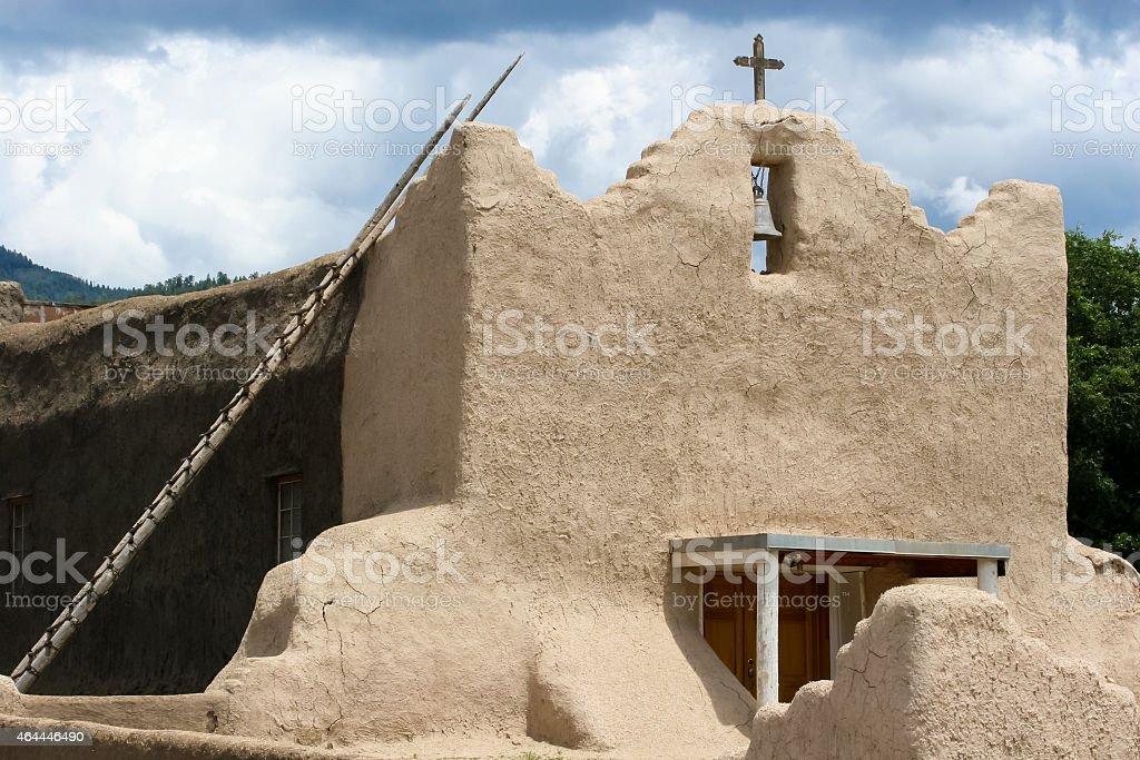 San Lorenzo de Picuris church in New Mexico stock photo