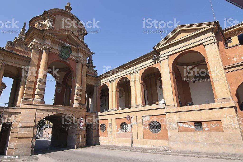 San Luca arcade -  Bologna, Italy royalty-free stock photo