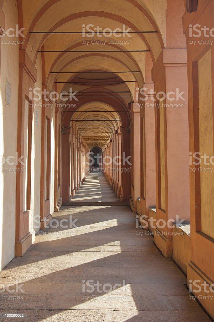 San Luca arcade in Bologna, Italy royalty-free stock photo