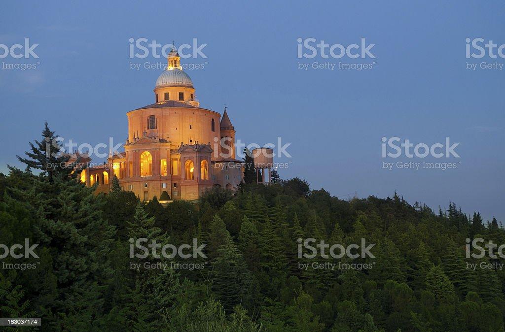 San Luca at dusk royalty-free stock photo