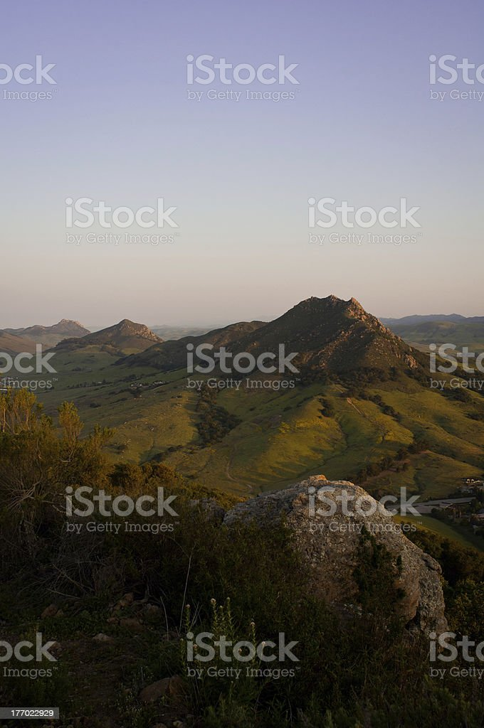 San Luis Obispo's Seven Sisters stock photo