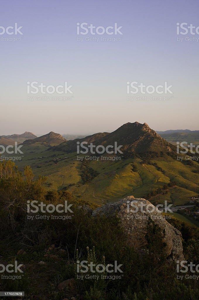 San Luis Obispo's Seven Sisters stock photo
