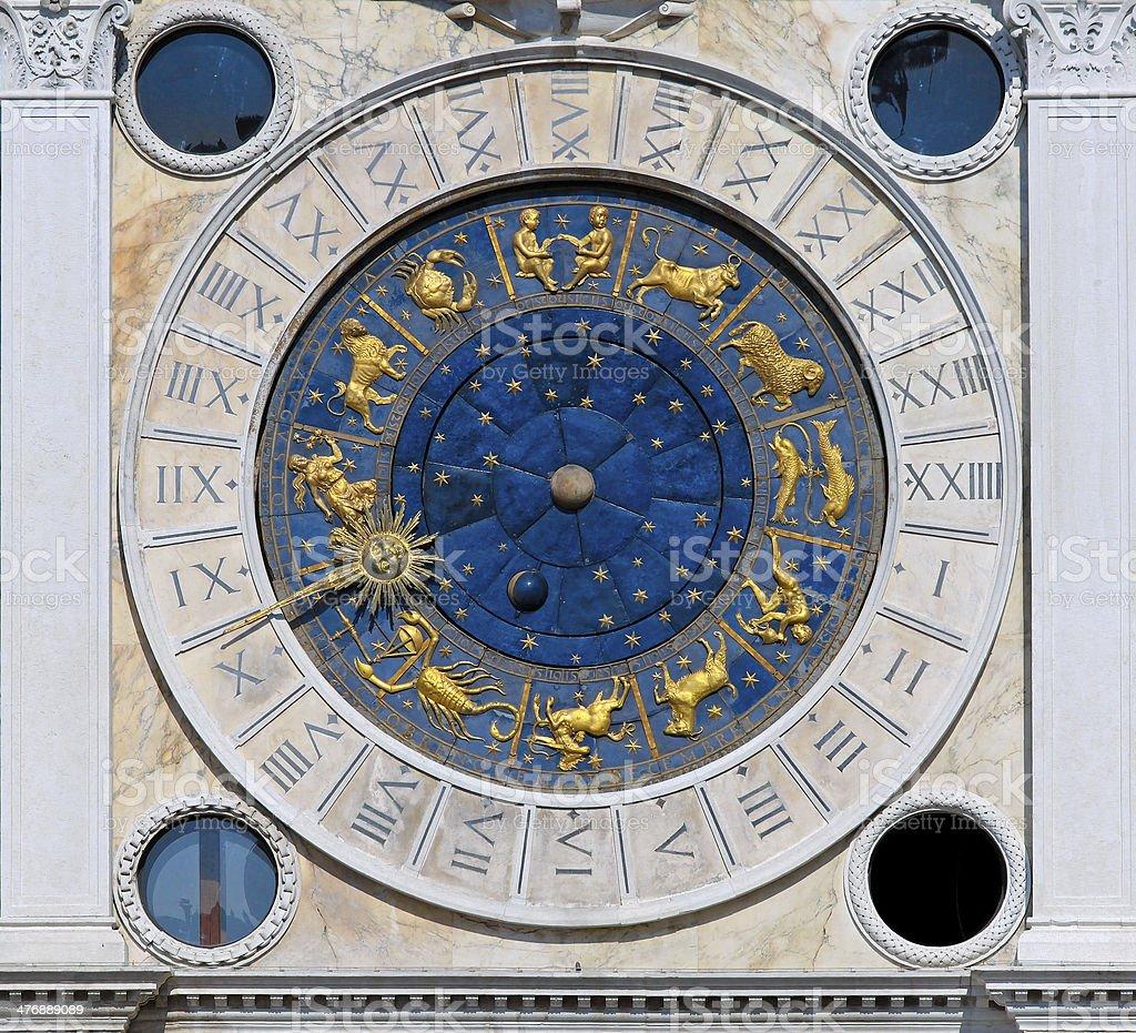 San Marco clock stock photo