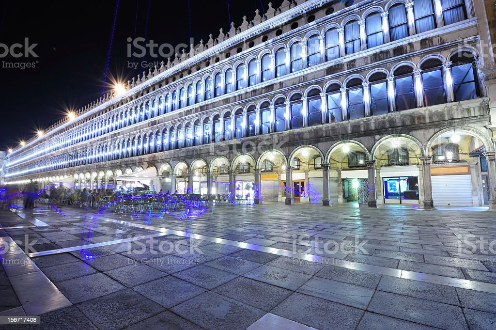 San Marco square at night royalty-free stock photo