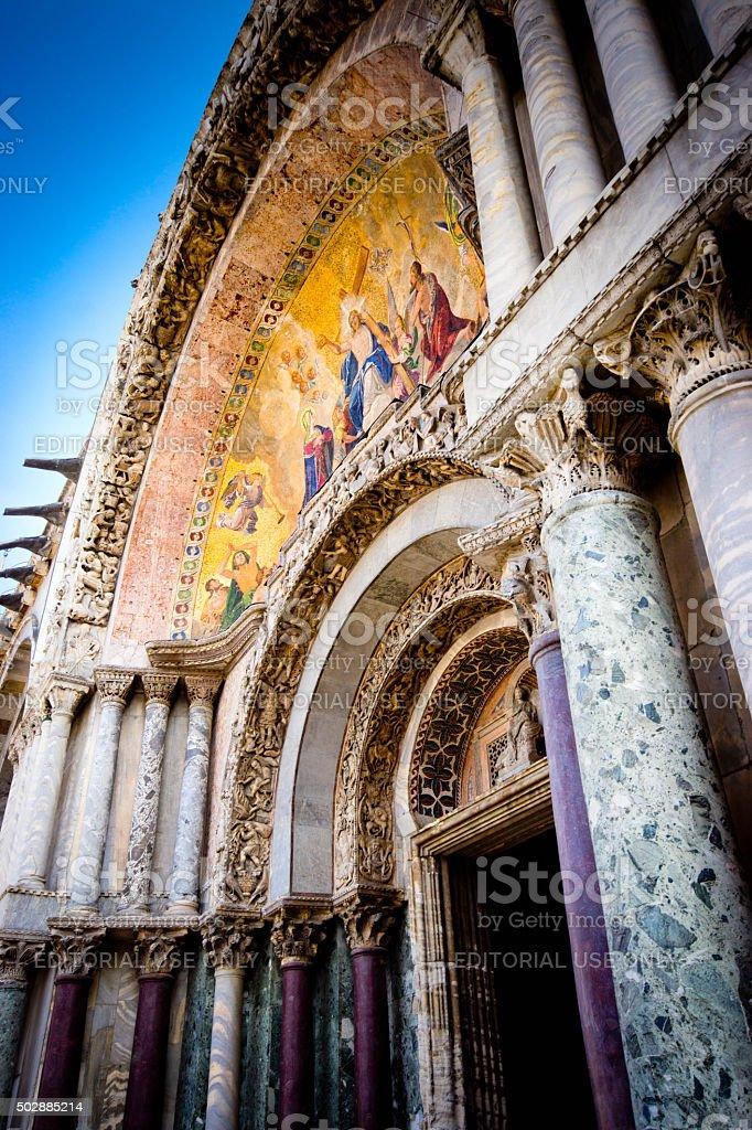 San Marco square basillica stock photo