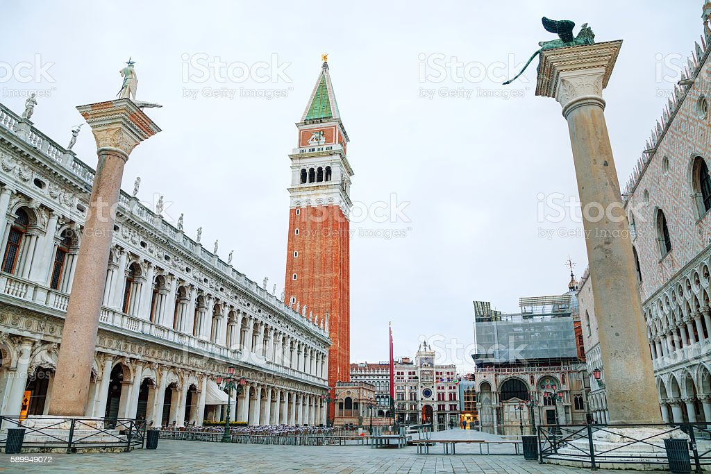 San Marco square in Venice stock photo