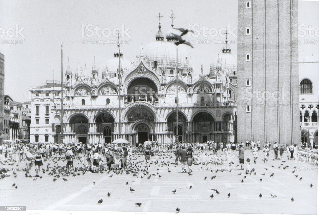 San Marco square overexposed royalty-free stock photo