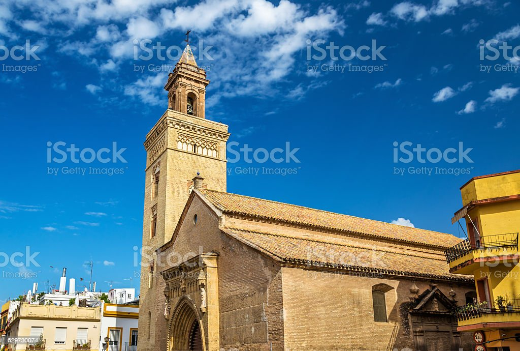 San Marcos Church in Seville, Spain stock photo