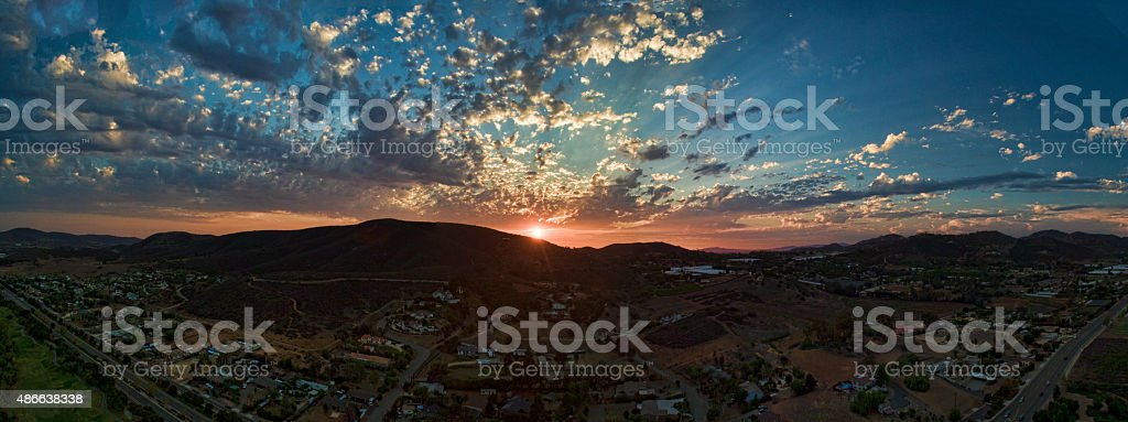 San Marcos Sunset stock photo