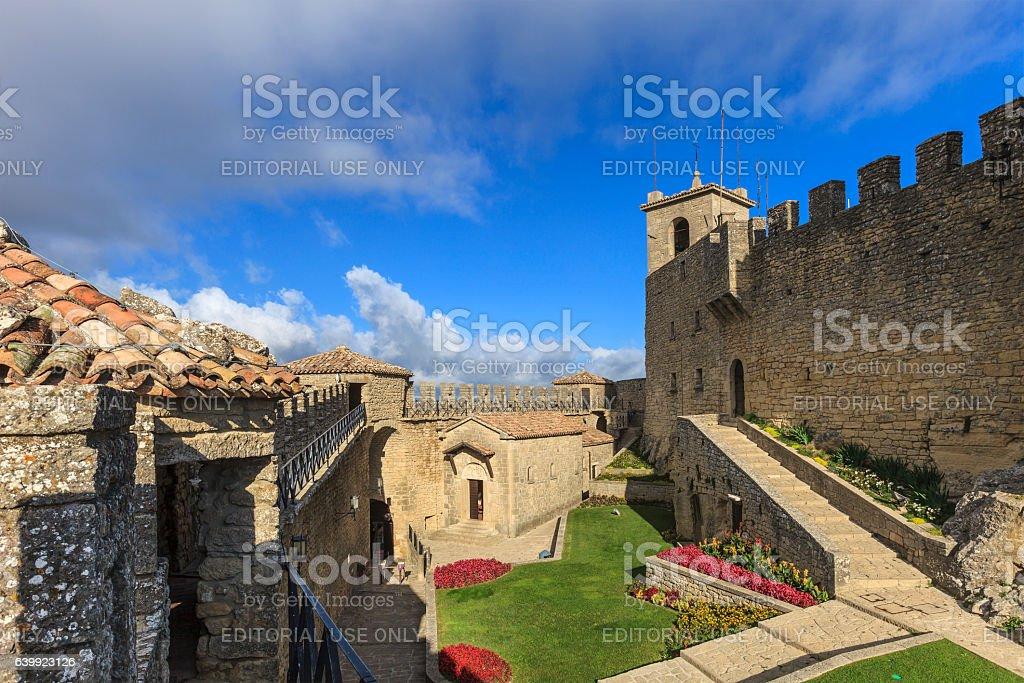 San Marino, Castello della Guaita - Fortress of Guaita stock photo