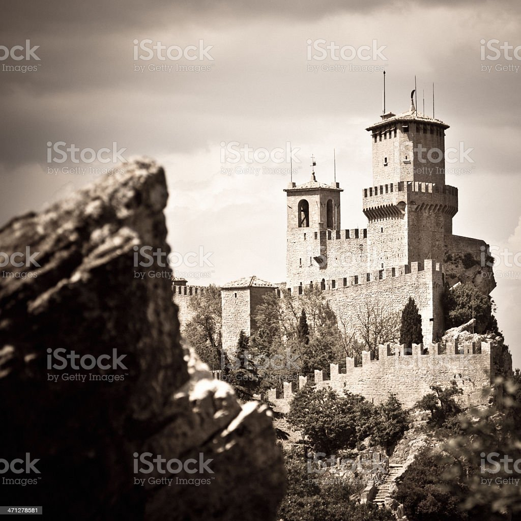 San Marino Castle royalty-free stock photo