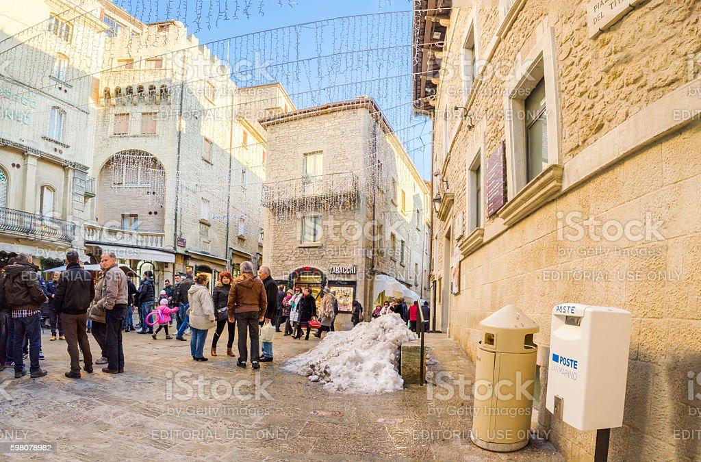 San Marino christmas stock photo