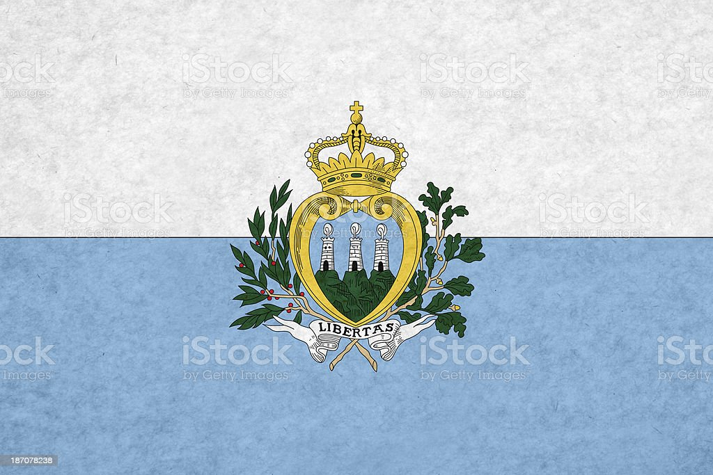 San Marino flag royalty-free stock photo