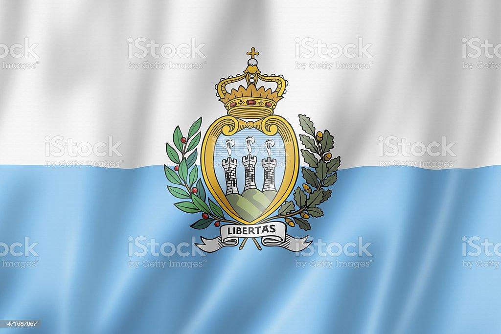 San Marino flag stock photo