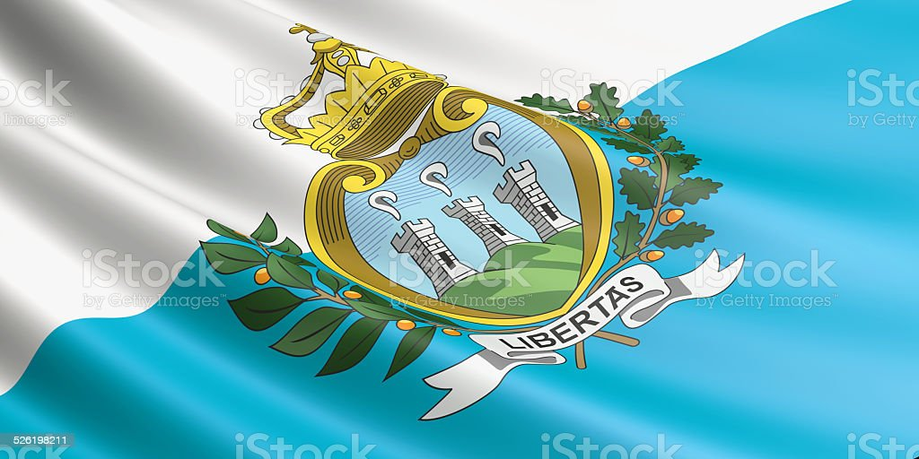 San Marino flag. royalty-free stock photo