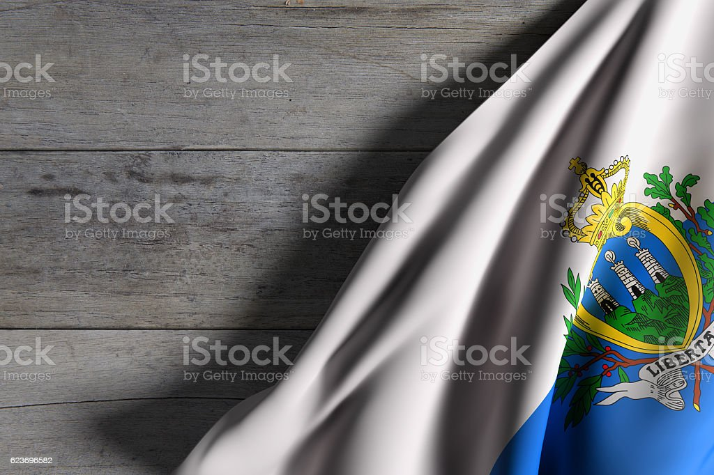 San Marino flag waving stock photo