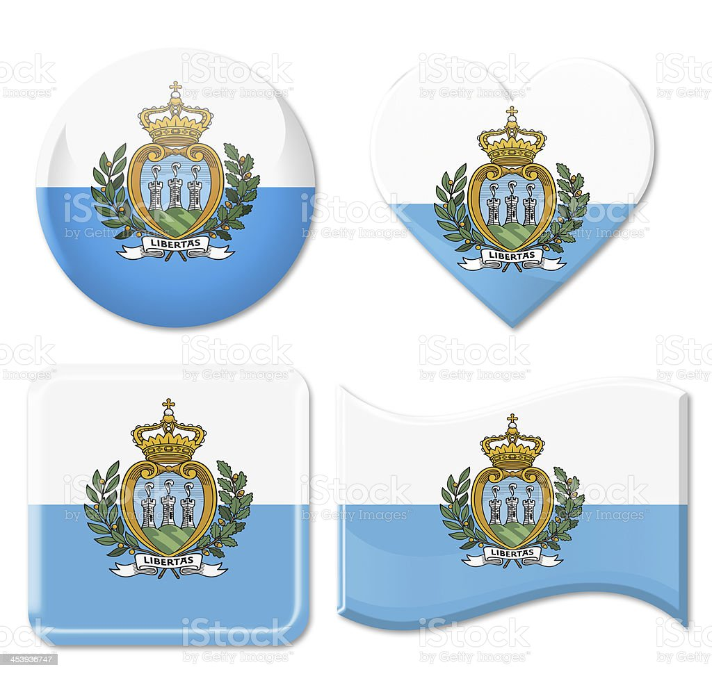 San Marino Flags & Icon Set stock photo