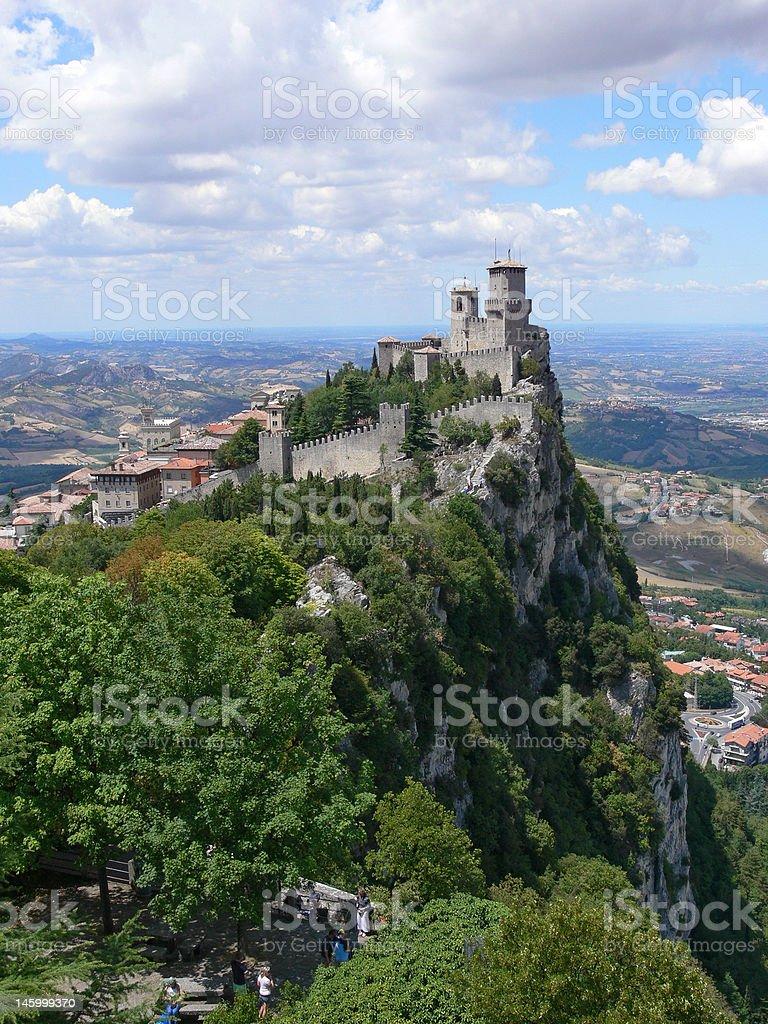San Marino - Guaita or Rocca, the First Tower stock photo