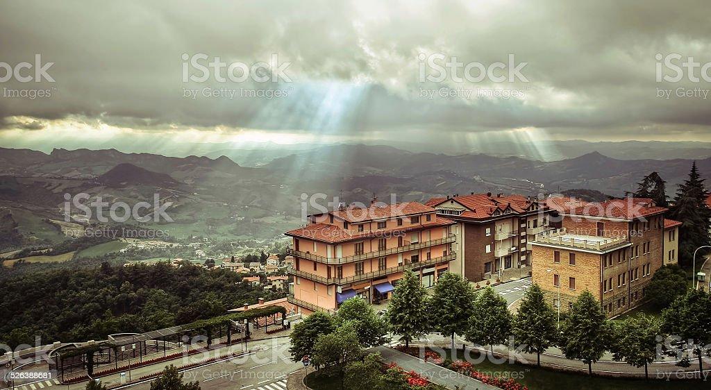 San Marino in Italy stock photo