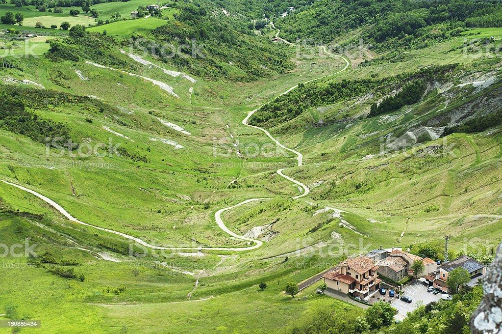 San Marino landscape. royalty-free stock photo