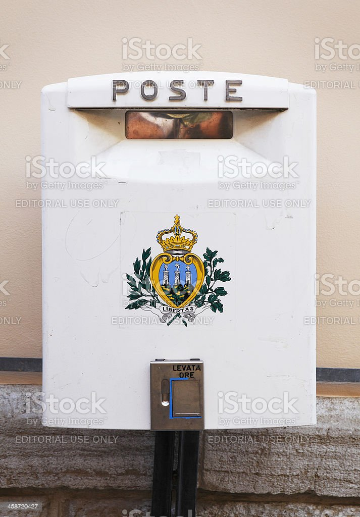 San Marino mailbox royalty-free stock photo