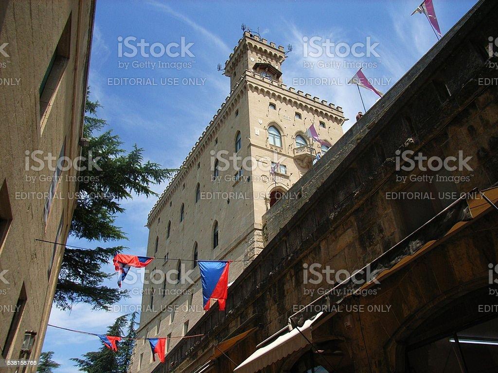 San Marino - Palazzo Pubblico stock photo