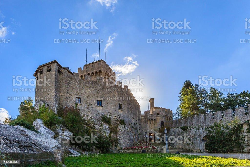 San Marino, Rocca Cesta - Second Tower stock photo