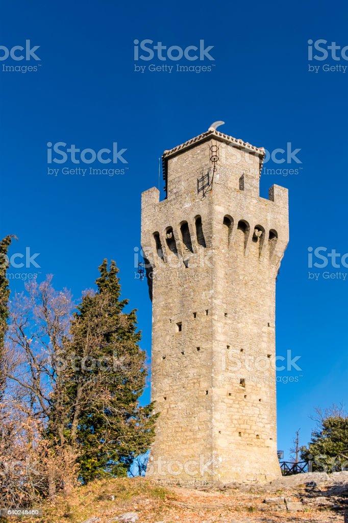 San Marino, Rocca Montale - Third Tower stock photo