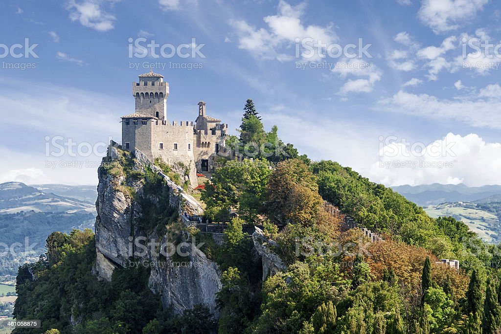 San Marino second tower: the Cesta or Fratta stock photo