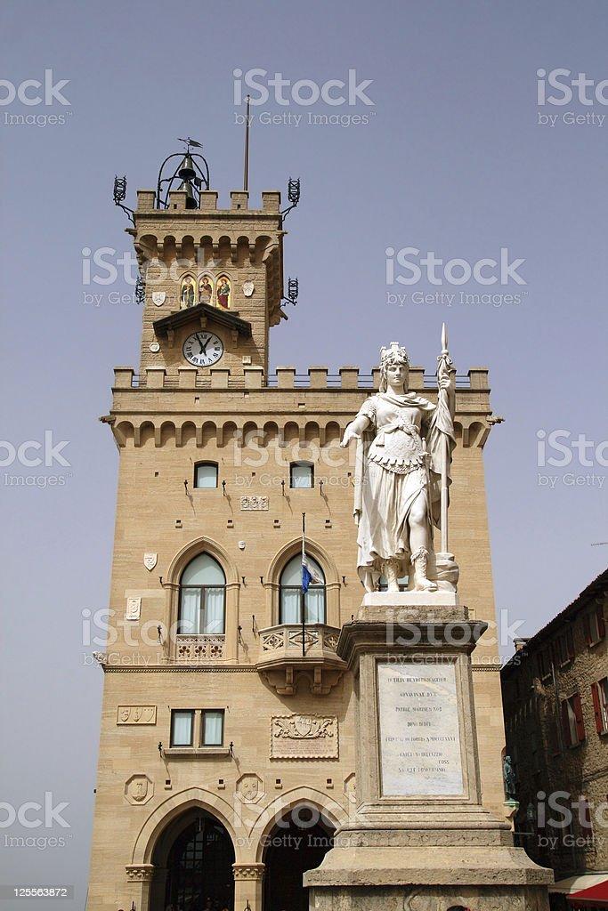 San Marino Square stock photo