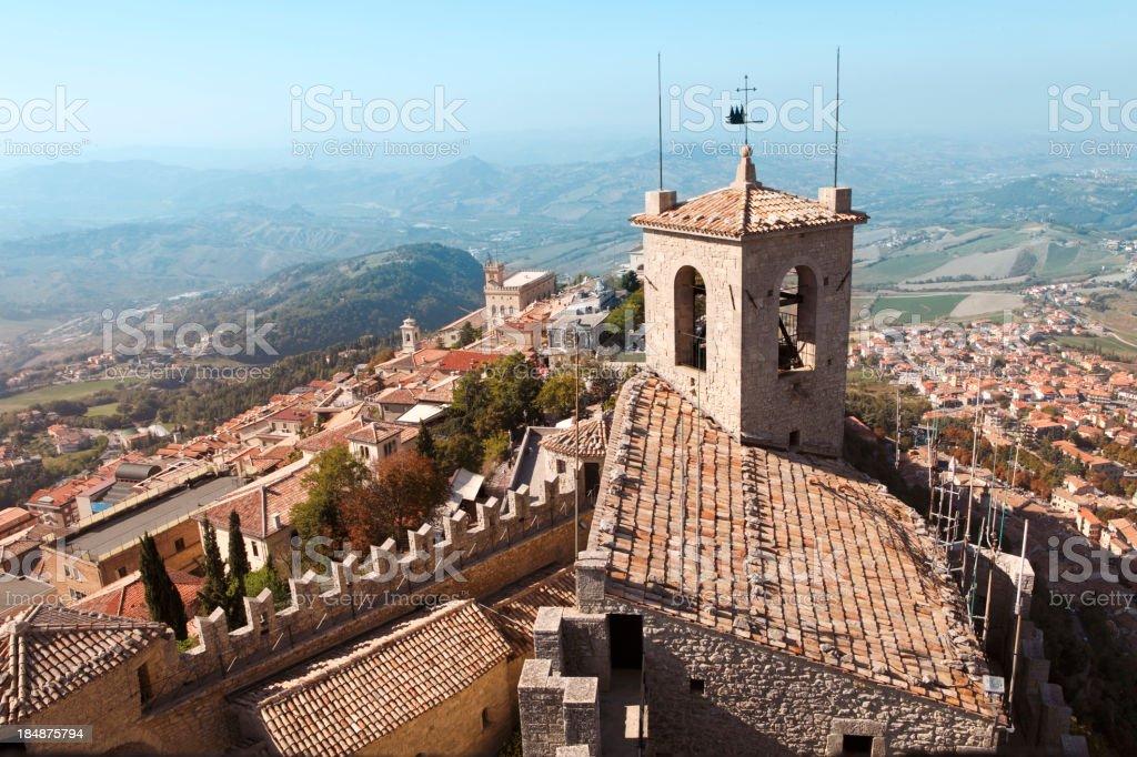 San Marino view stock photo
