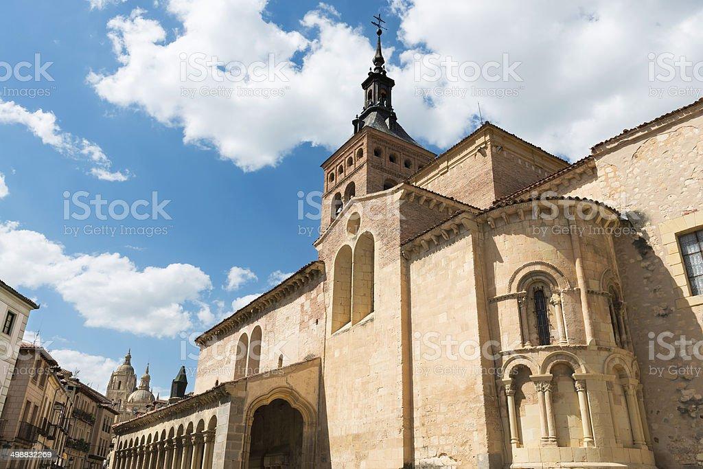San Martin Church in Segovia stock photo