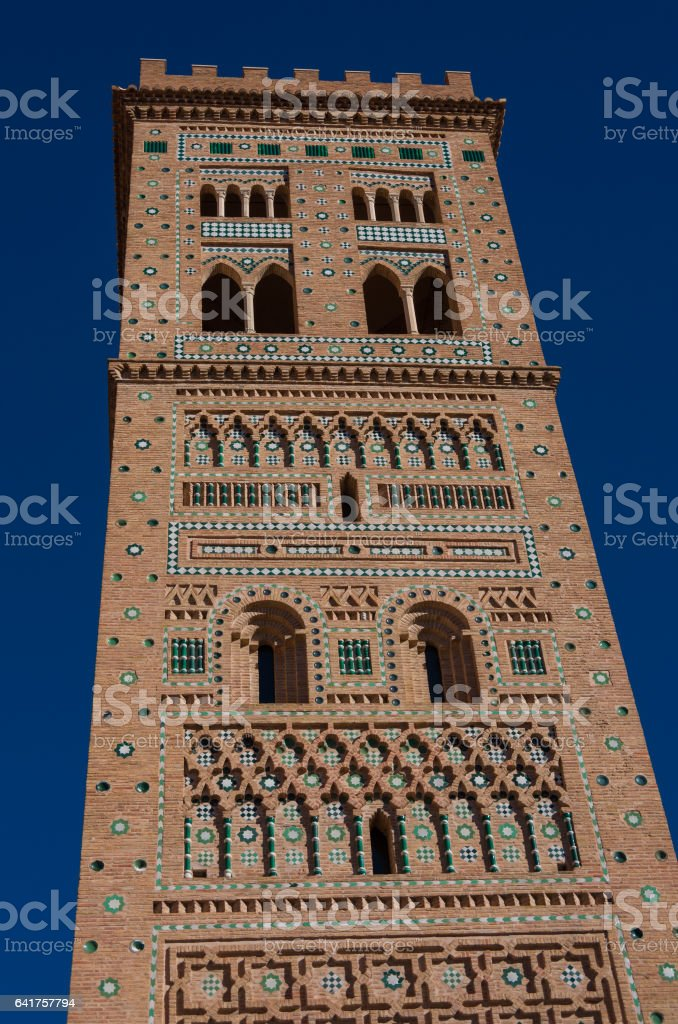 San Martin tower in mudejar style stock photo