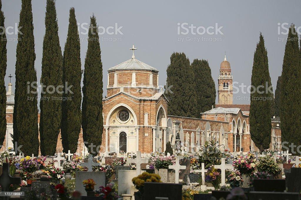 San Michele cemetery island, Venice stock photo