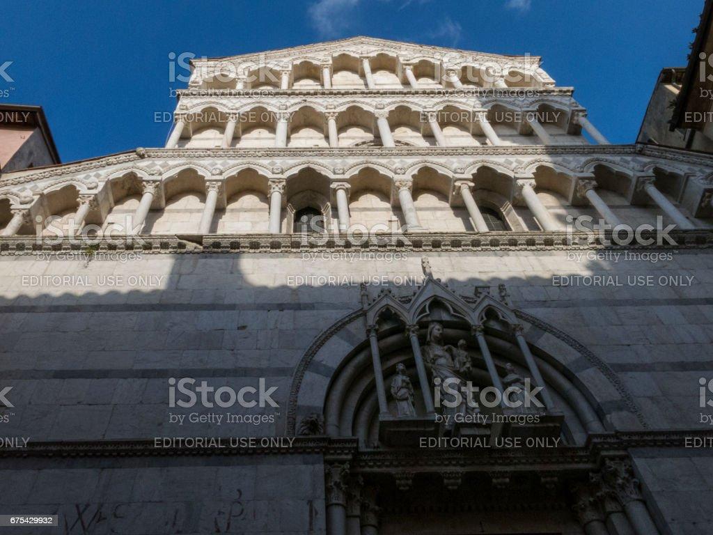 San Michele in Borgo church in Pisa - Italy stock photo
