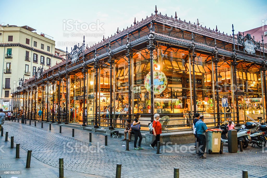 San Migeul Market in Madrid, Spain stock photo