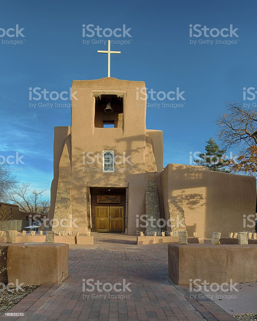 San Miguel Chapel royalty-free stock photo