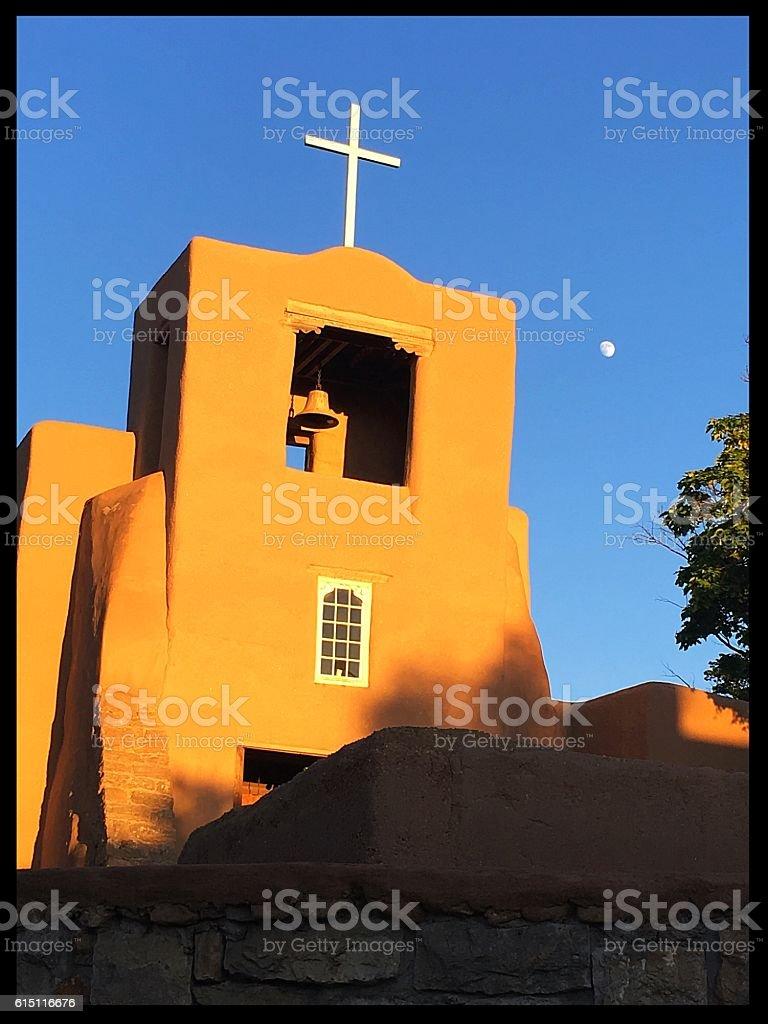 San Miguel Church, Santa Fe stock photo